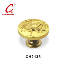 Gold Knob Handles with Decorative Pattern (CH2136)